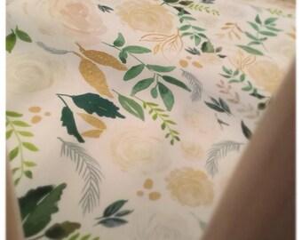 Blush Floral Crib Sheet, Baby girl bedding, Floral Bedding, Floral pattern, baby girl crib sheet, baby girl nursery, floral nursery