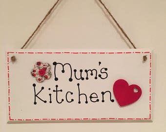 Hand painted wooden Mum's Kitchen