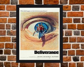 Framed Deliverance Burt Reynolds & Jon Voight Cult Movie / Film Poster A3 Size Mounted In Black Or White Frame (Version - 2)
