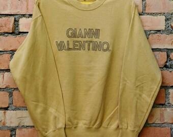 Rare !!! Vintage Gianni Valentino Sweatshirt Crewneck Large Size