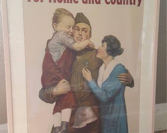 ORIGINAL Offset Lithograph World War 1 Liberty Loan Poster
