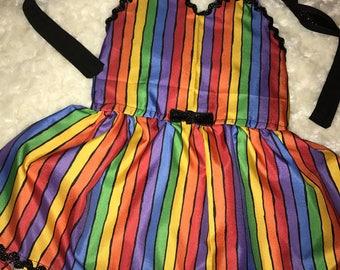 Rainbow Halter Style Dress
