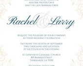 Custom order for Rachel - vintage wedding invitation, royal wedding invitation, elegant decorative wedding invitations, ivory wedding invite