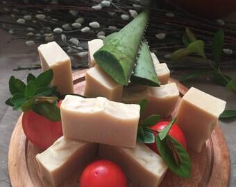 Organic Fresh Tomato, Fresh Aloe Vera Soap
