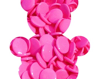 Set of 10 T5 KAM snaps - pink heart - B47