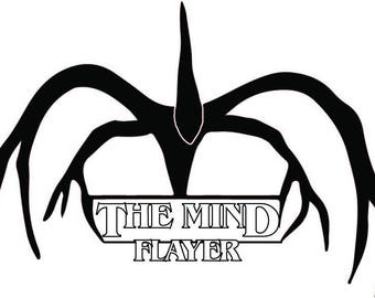 The Mind Flayer - Stranger Things_ Stencil_Scanncut_Cricut_project_svg_printable