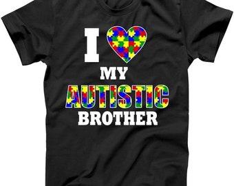 I Love My Autistic Brother - Autism Awareness Shirt