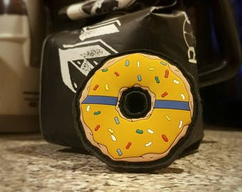 Thin Blue Line Donut Patch - PVC with Velcro - Pumpkin Spice - LIMIT 2