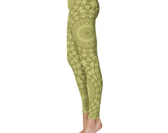 Green Leggings - New Fashion Leggings, Yoga Leggings, Stretch Pants for Women
