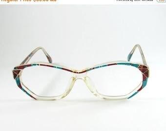 ON SALE Vintage Eyeglasses, Geometric Sunglasses, Atrio, Hipster, Prescription Glasses, 90s, Gift for Her, Eyeglasses Frames, Deadstock Eyew