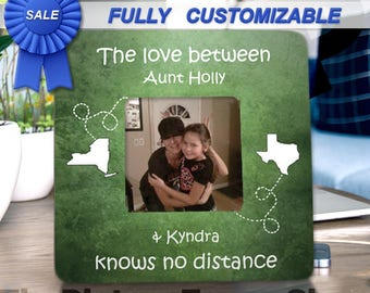 Aunt Frame Aunt Gift Auntie Uncle Niece Nephew Personalized Gift Picture Frame Niece Frame Niece Gift Aunt and Niece Long Distance Frame