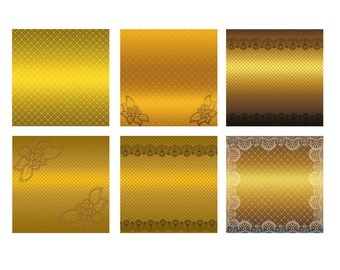 Lace Digital Paper Golden Lace background golden lace scrapbooking Instant download pattern Lace