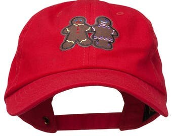 Christmas Gingerbread Man Patched Washed Cap
