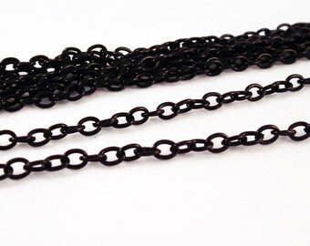 CH30 - 1 M chain link 3mm X 5 mm black