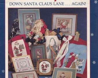 Down Santa Claus Lane Again, Alma Lynne Christmas Sampler Cross Stitch Pattern Booklet ALX-78