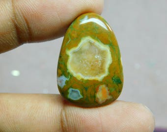 100% Natural 21.20cts Flower Rain forest fansy shape cabachone loose gemstone