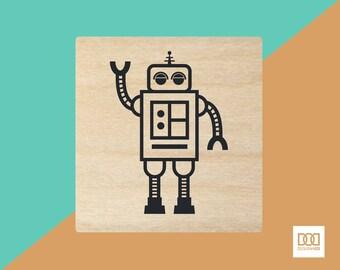 Walking Robot - 3cm Rubber Stamp (DODRS0067)