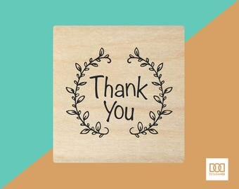 Thank You Wreath - 3cm Rubber Stamp (DODRS0118)