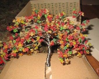 Unfinished Beaded Bonsai: Cherry Tree
