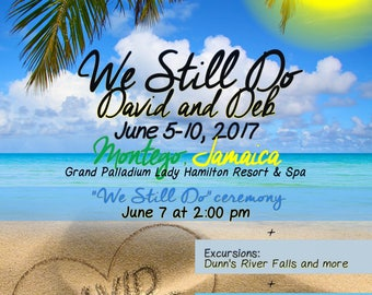 We Still Do (Renewal of Vows) - Destination Announcement