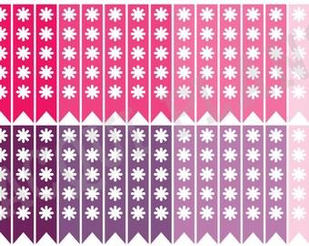 Checklist Planner Stickers-Pink and Purple