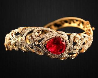 Gold Plated Sterling Silver Swirl Bracelet