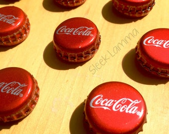 Coca-Cola Double Sided Bottle Cap Magnets - Set of 6