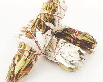 Sage + Yerba Santa Bundle . Rituals . 5 Inch . Rituals Incense