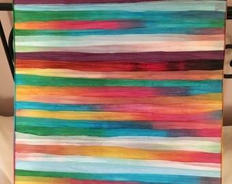 Raffia paper original art canvas