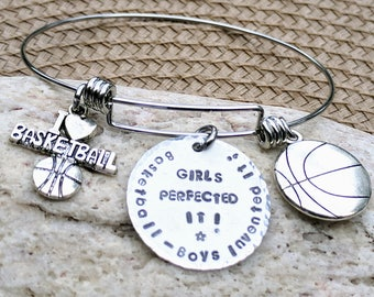 Basketball Bracelet, Basketball Jewelry, Basketball Gifts, Basketball Mom, Basketball Coach, Sports Gifts, Girls Basketball, Sports Charms
