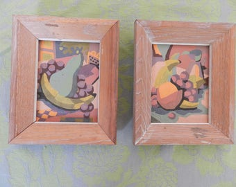 Pair of Original Fruit Oil Paintings