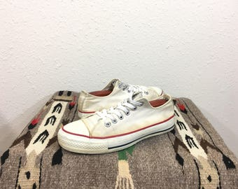 90's vintage converse chuck taylor canvas shoes tie sneaker made in usa size 7