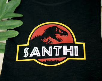 JURASSIC PARK T-Shirt | Dinosaur T-Shirt | Baby Child & Adult Sizes | Personalized T-Shirt