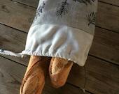 Sac à pain / lin / sac en coton réutilisable / zerowaste /zerodechet