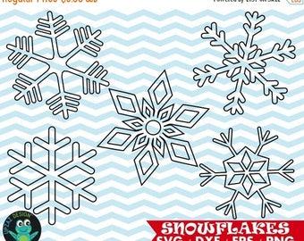75% OFF SALE Snowflake Digital Cut Files, Svg, Dxf, Png, Snowflake Cut File - UZ1080