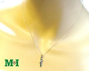 Diamond Necklace, Diamond pendant, 14K Solid Gold Necklace, Charm & Necklaces, Gold Necklace