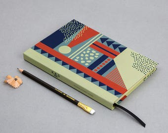 Pattern Notebook - A5 - 200 Luxury Pages - Graphic Print