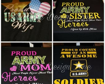ARMY FAMILY SHIRTS