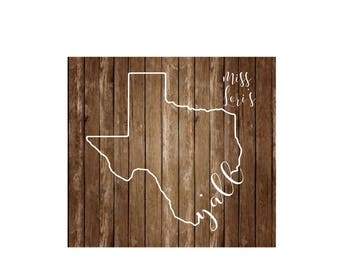 Texas  Y' all outline SVG DFX Cut file  Cricut explore file Car decalscrapbook vinyl decal wood sign cricut cameo Commercial use