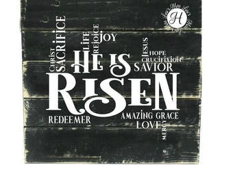 He is risen SVG DFX Cut file  Cricut Christian svg, scripture svg, commercial license, Bible svg Commercial license, Easter svg, Jesus svg