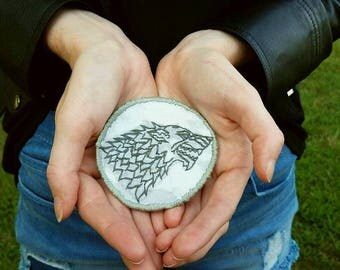 Hand Embroidered House Stark Patch