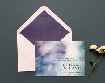 Lula Save the Date Printable Wedding Stationery, Personalised Digital PDF