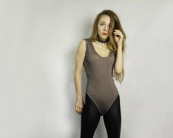 Vintage bodysuit / Vintage leotard / Vintage Body suit / dance leotard / sleeveless body top