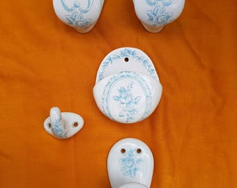 Vintage - set of peg porcelain of Paris