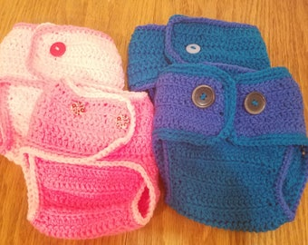 Crochet Diaper Cover, Baby Diaper Cover, Photo Prop