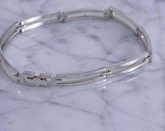 """Long Link Sterling Bracelet (8"""")"""