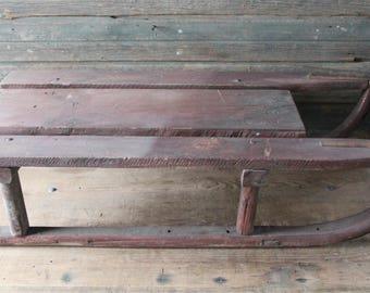 Heavy-duty wooden sled