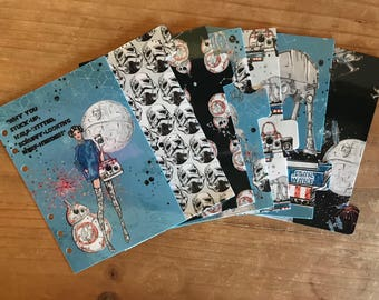Star Wars planner dividers. Available for pocket, personal, foxy fix personal wide, recollections and A5 planners.