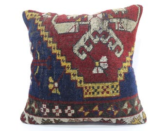 24x24 Hanmade Turkish Carpet Pillow Sofa Pillow 24x24 Large Rug Pillow Decorative Carpet Pillow Home Decor Cushion Cover  SP6060-1361