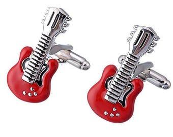 Electric Guitar Cufflink -B168